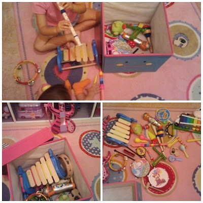 Juego caja - baúl de instrumentos musicales