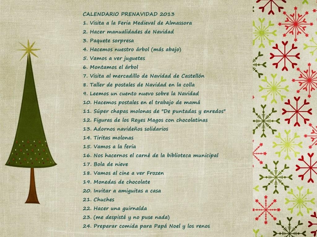 Ideas para el calendario de adviento o prenavidad
