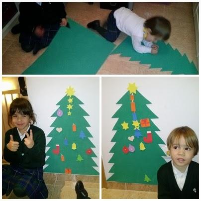 DIY árbol de navidad de goma EVA