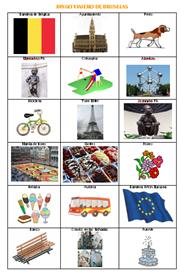Viajar con niños a Bruselas. Bingo viajero