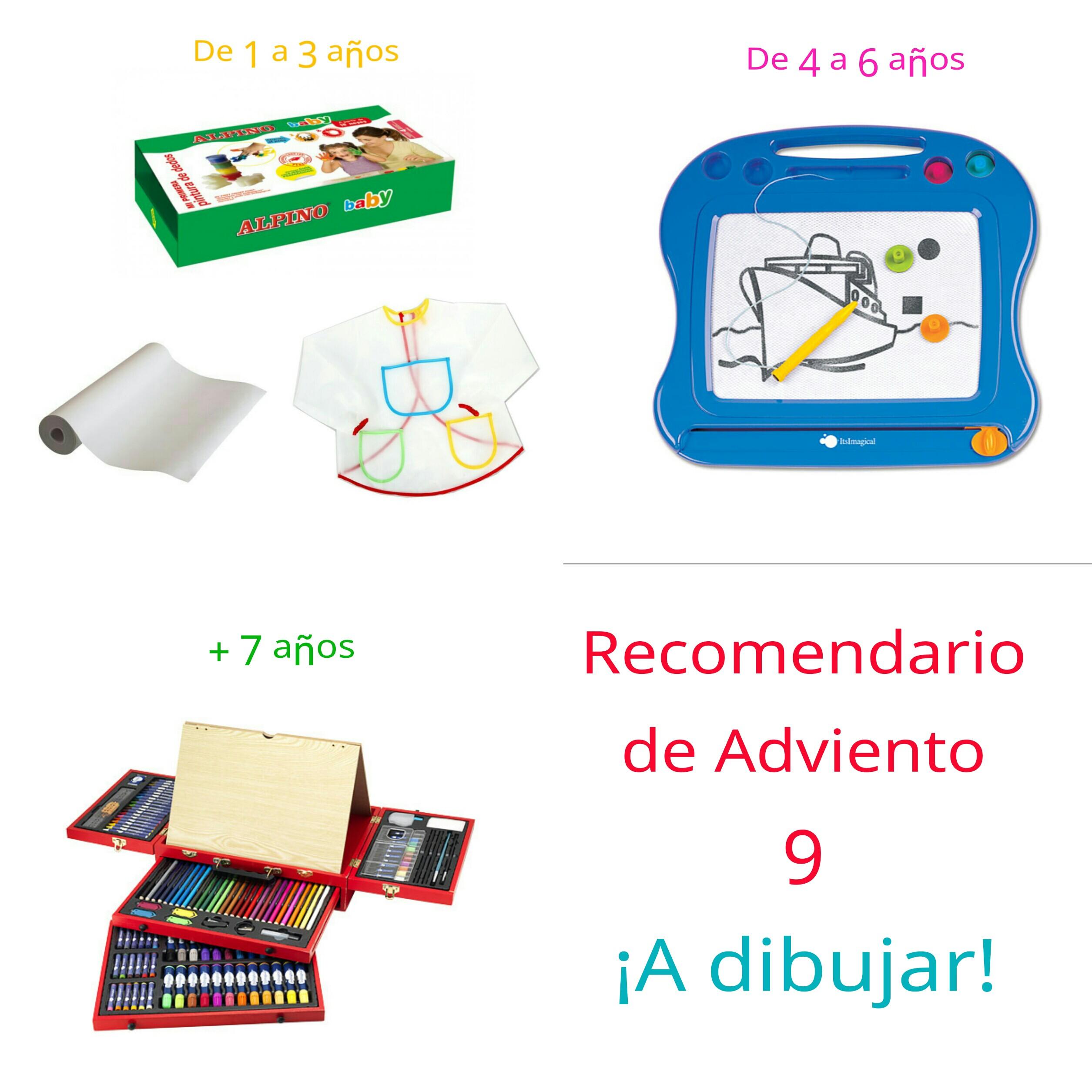 Ideas de regalos para niños. Recomendario de adviento 9 - ideas de regalo. Para dibujar