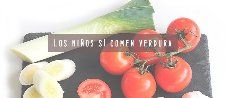 Los niños sí comen verduras