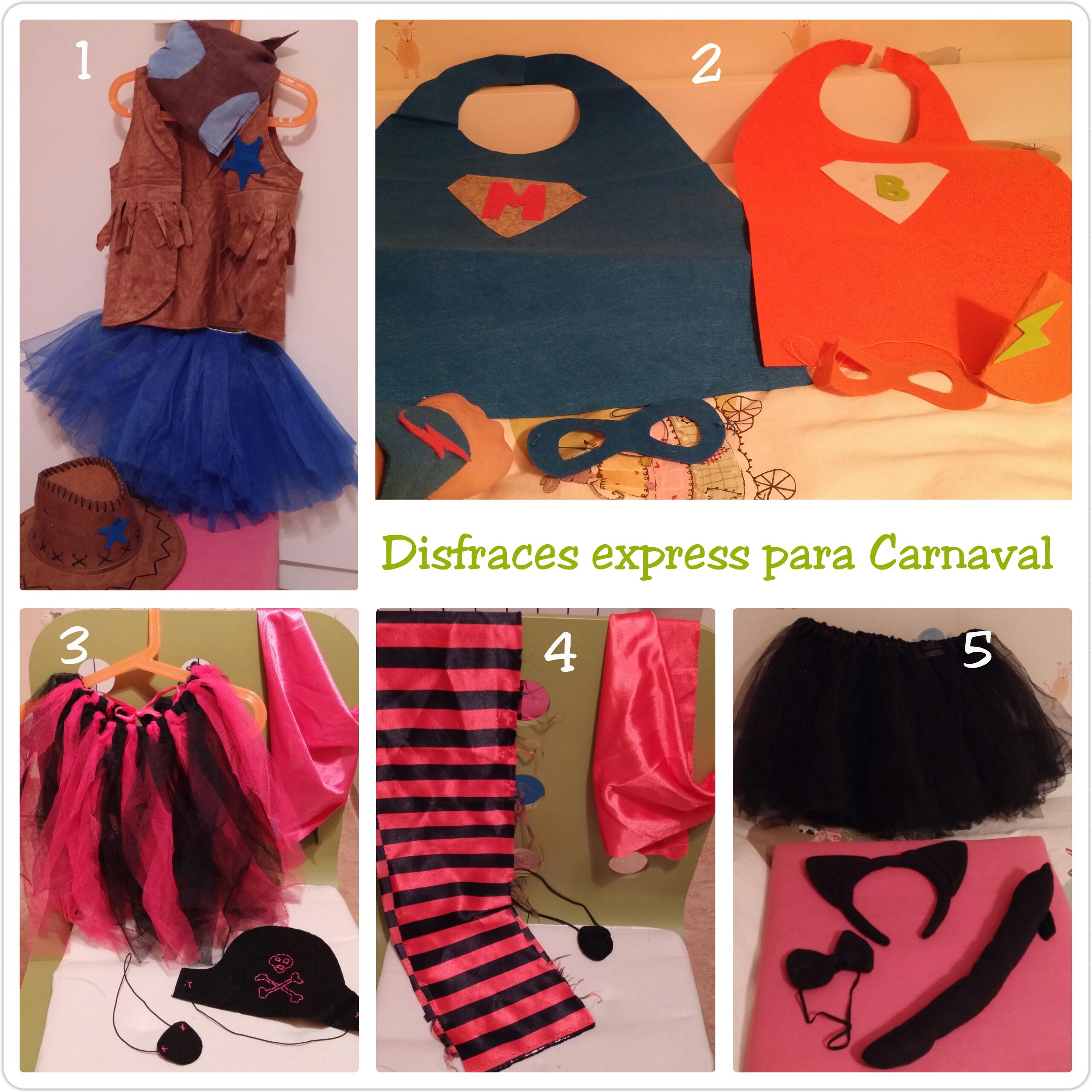 Disfraces express para Carnaval