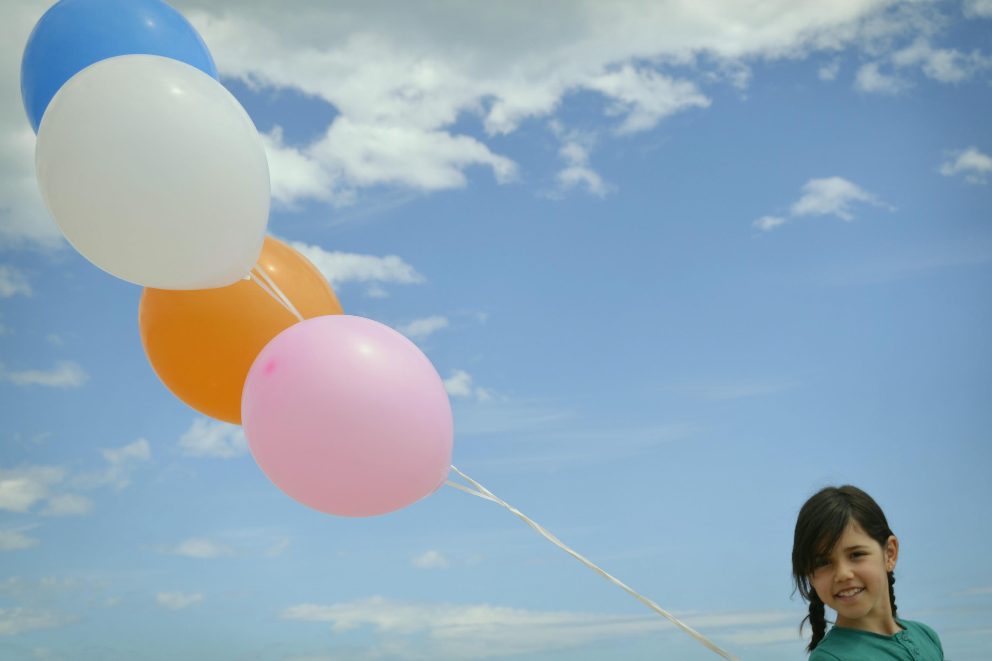 Fotos bonitas con globos de helio