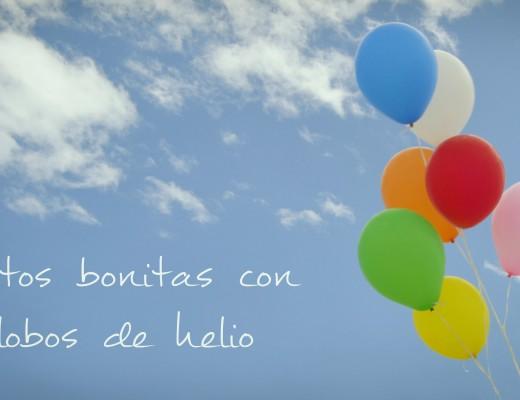 Fotos bonitas con globos de helio en la playa