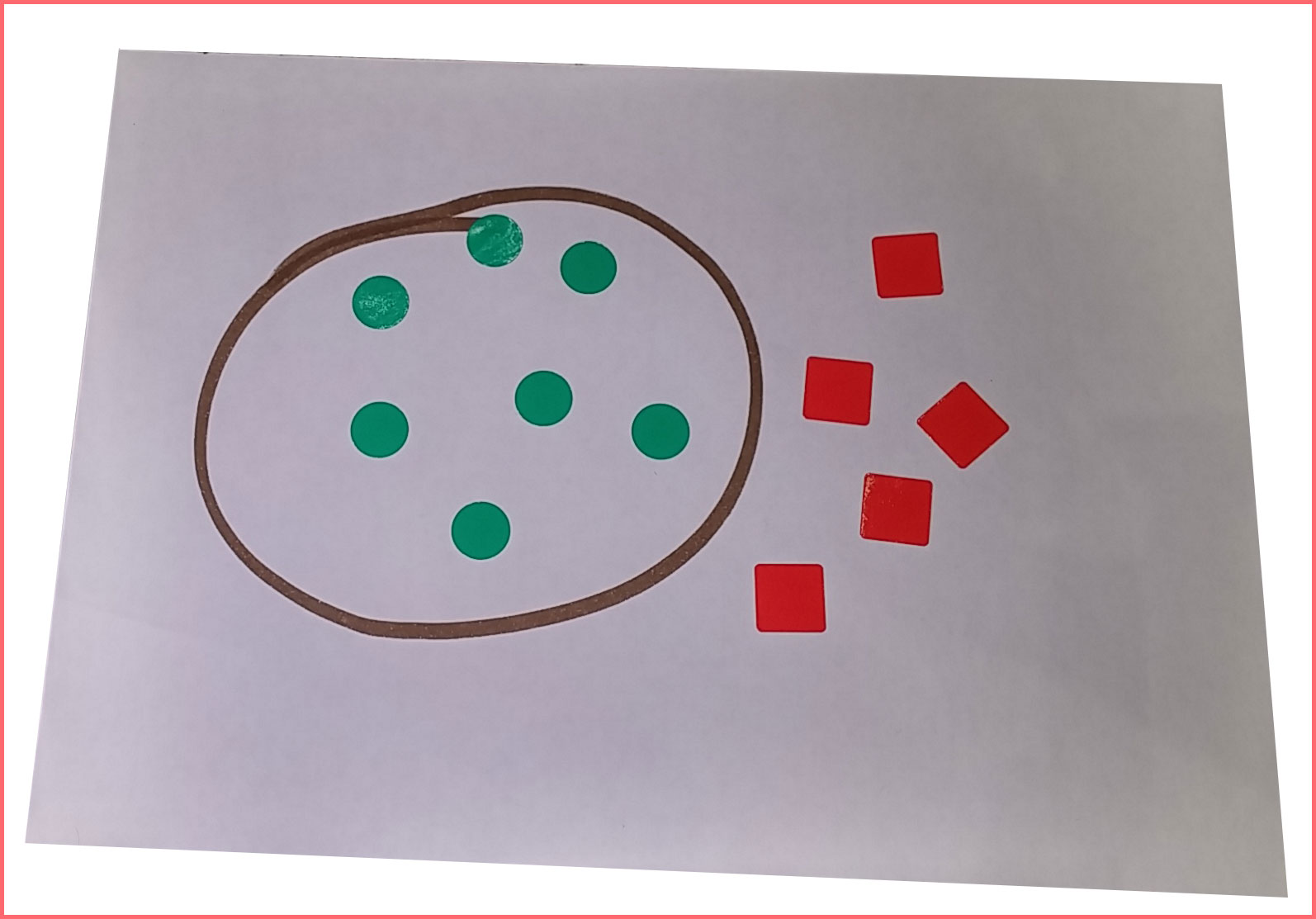 Aprender con gomets. Colores y formas