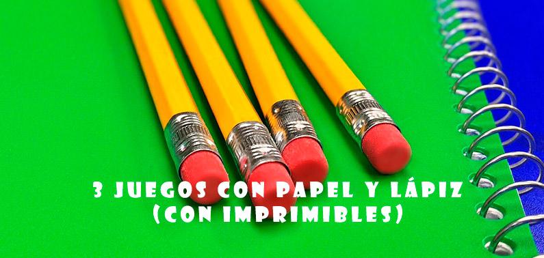 Juegos con papel y lápiz