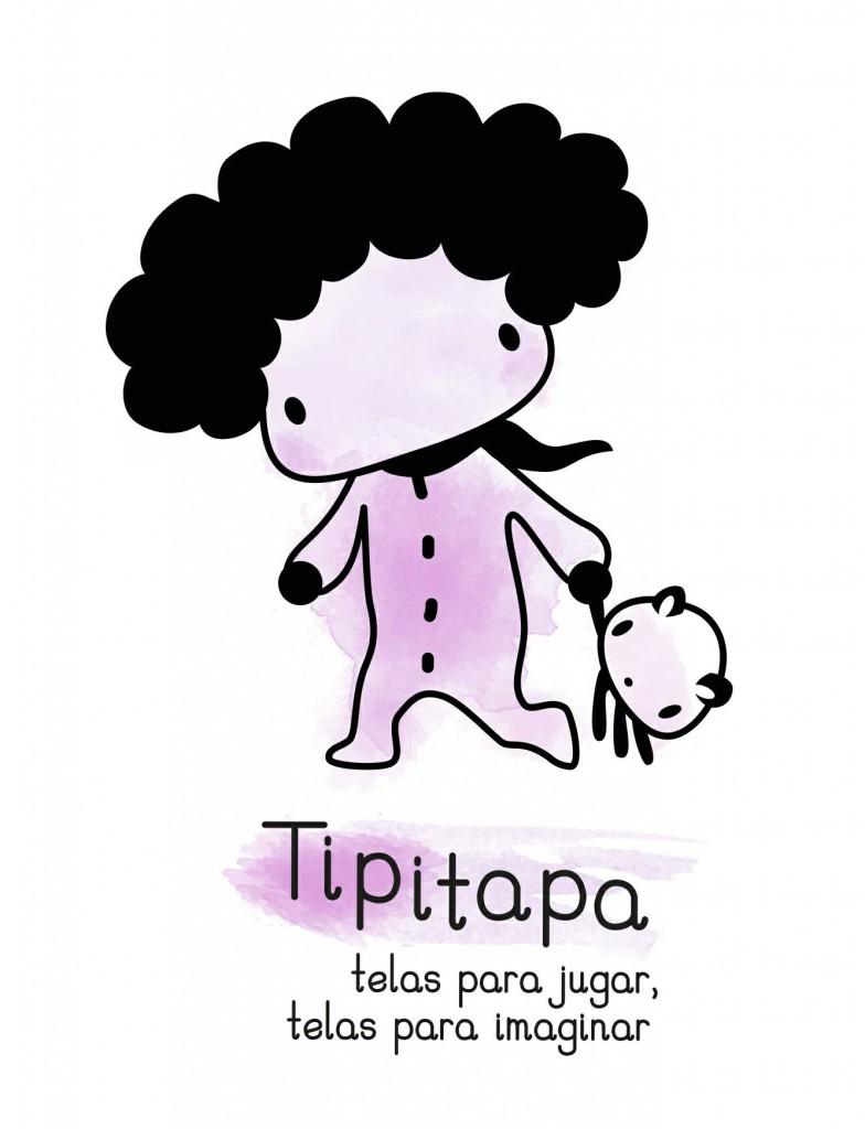 Logo Juguetes TipiTapa. Juguetes artesanos de tela. De Castellón.